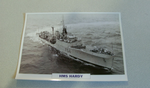 1953 HMS Hardy Frigate warship framed picture